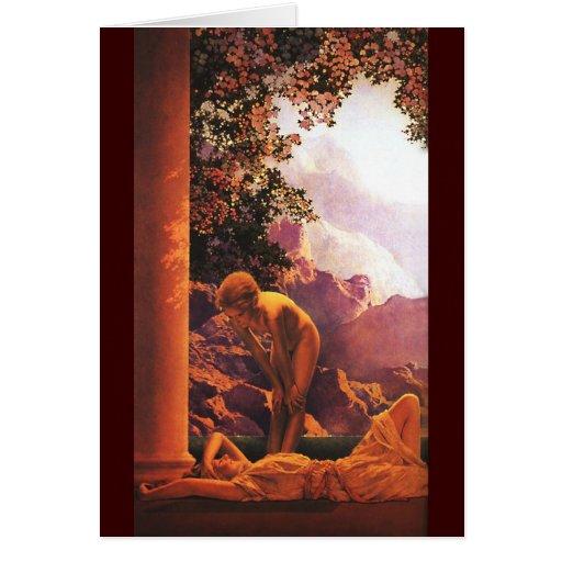 Daybreak, Maxfield Parrish Greeting Card