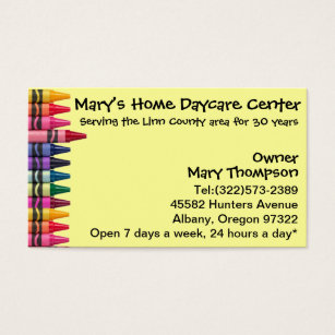 Child care business cards templates zazzle daycare babysitting childcare business card colourmoves