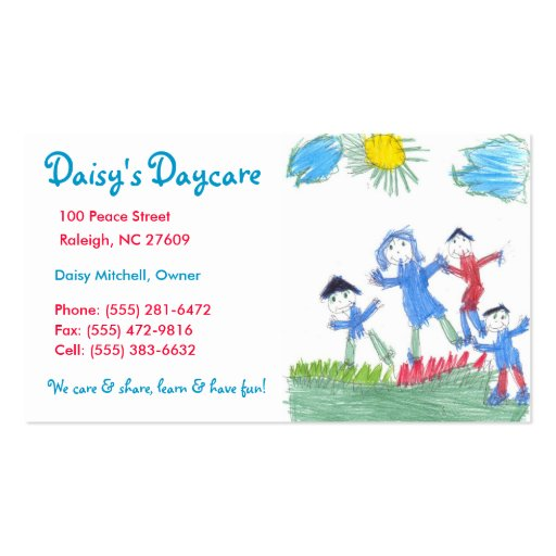 Babysitting Business Card Templates Bizcardstudio Com
