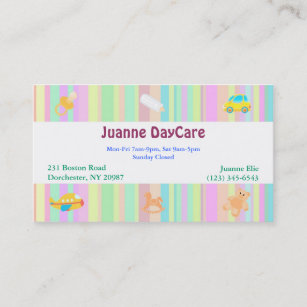 Daycare business cards templates zazzle daycare business card colourmoves