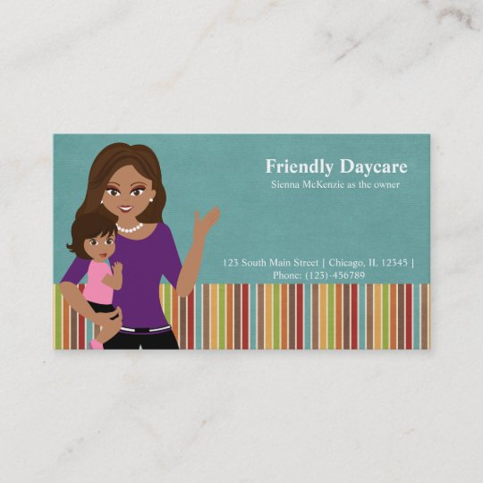 Daycare business card zazzle daycare business card colourmoves