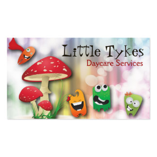 Daycare Business Card Colorful Mushroom & Monsters