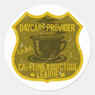 Daycare Caffeine Addiction League Classic Round Sticker