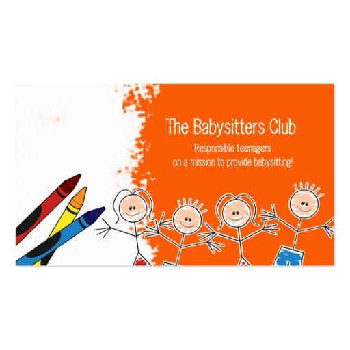 babysitting business card templates