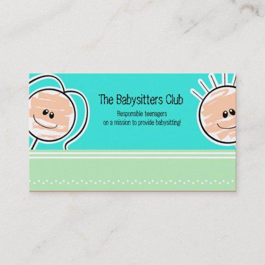 Babysitting Day Care Child Care: DAYCARE Child Care Babysitting Business Card