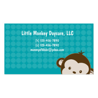 Daycare child care babysitting Mommy calling card Double-Sided Standard Business Cards (Pack Of 100)