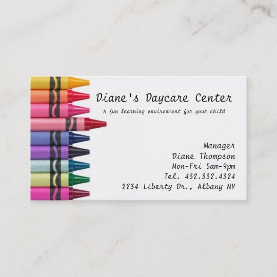 Daycare childcare business card zazzle daycare childcare business card colourmoves