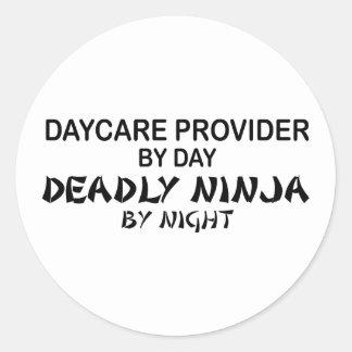 Daycare Deadly Ninja by Night Classic Round Sticker