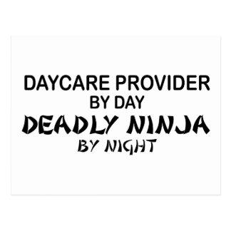 Daycare Deadly Ninja by Night Postcard