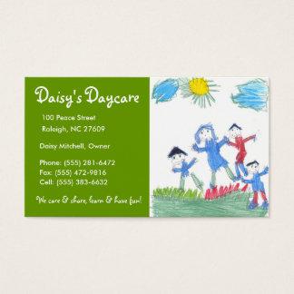 Daycare Green Grass Business Card