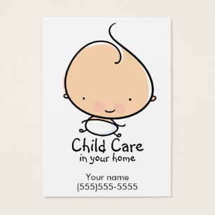 Daycare business cards templates zazzle daycare or babysitting custom business card colourmoves Gallery