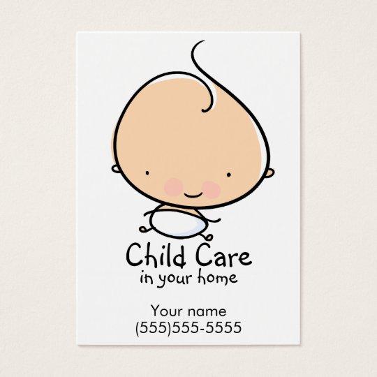 daycare or babysitting custom business card