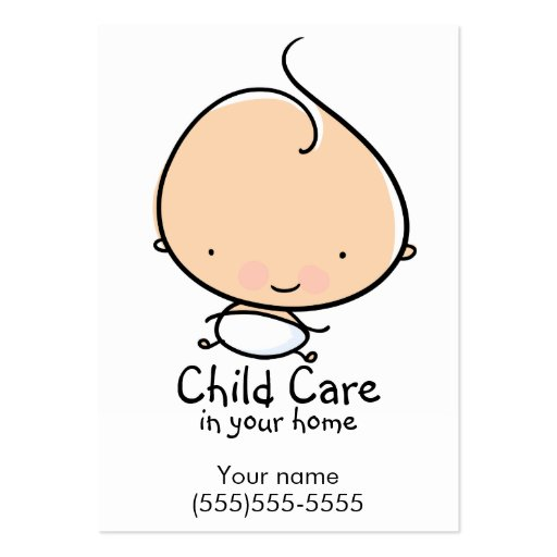 Babysitting business card templates bizcardstudio daycare or babysitting custom business card colourmoves