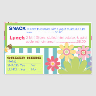 Daycare Playful Hot Lunch order stickers