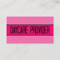 Daycare Provider Baby and Hot Pink Business Card