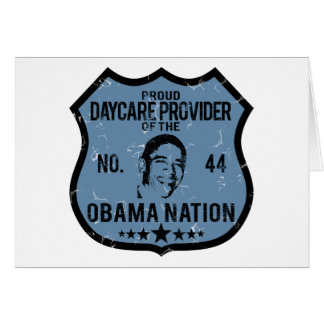 Daycare Provider Obama Nation Card