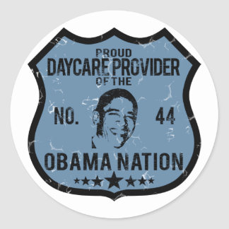 Daycare Provider Obama Nation Classic Round Sticker
