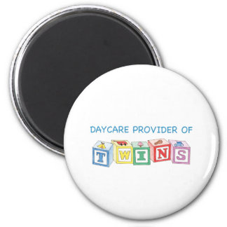 Daycare Provider of Twins Blocks Magnet