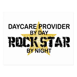 Daycare Provider Rock Star Postcard