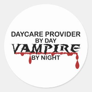Daycare Provider Vampire by Night Classic Round Sticker