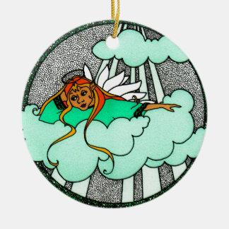 Daydream Angel Ceramic Ornament