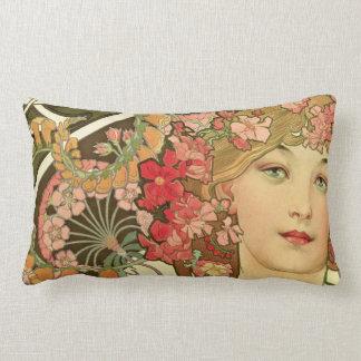 Daydream by Alphonse Mucha Lumbar Pillow
