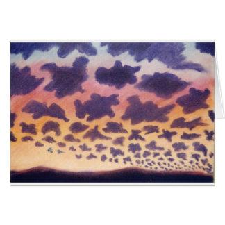 daydream clouds greeting card