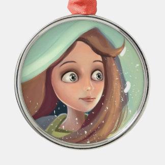 daydream girl face portrait Ornament