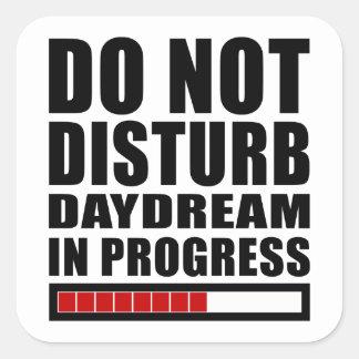Daydream in Progress Square Sticker