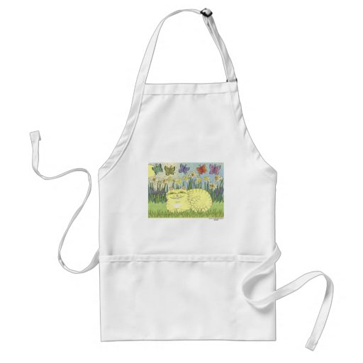 Daydream of the Daffodil Tabby Adult Apron