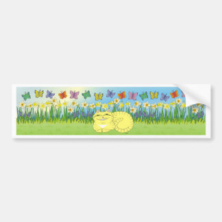 Daydream of the Daffodil Tabby Bumper Sticker