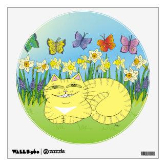 Daydream of the Daffodil Tabby Wall Sticker
