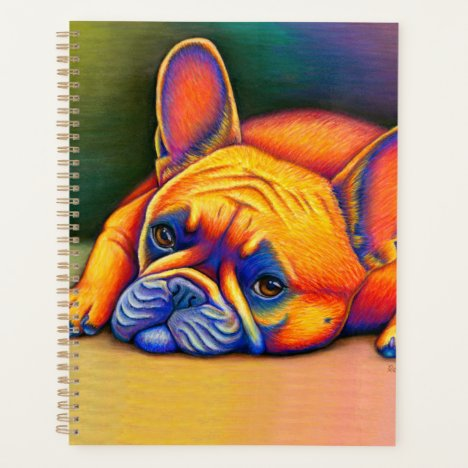 Daydreamer Colorful Rainbow French Bulldog Planner