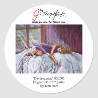 Daydreaming Classic Round Sticker