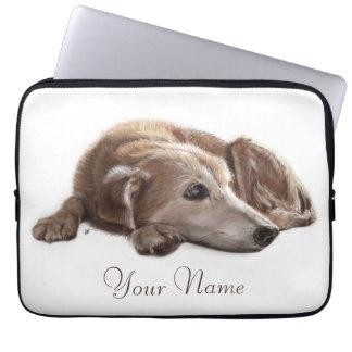 Daydreaming Dog Computer Sleeve