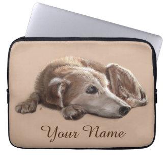 Daydreaming Dog Illustration Laptop Sleeve