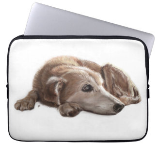 Daydreaming Dog Illustraton Laptop Sleeve
