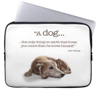 Daydreaming Dog Laptop Sleeve