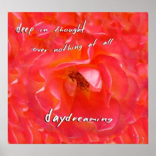 Daydreaming Haiku Art Print