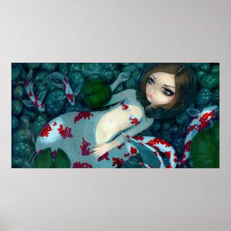 Daydreaming Koi Mermaid fantasy Art Print