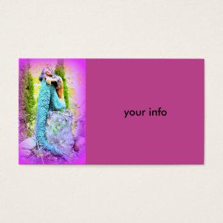 daydreaming mermaid business card