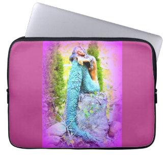 daydreaming mermaid laptop case
