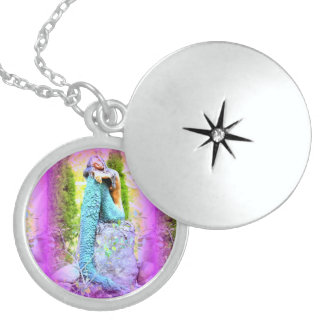 daydreaming mermaid locket
