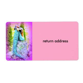 daydreaming mermaid return address label