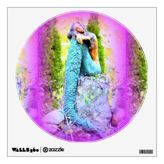 daydreaming mermaid wall decal