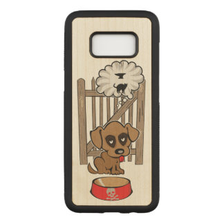 Daydreaming Puppy Carved Samsung Galaxy S8 Case