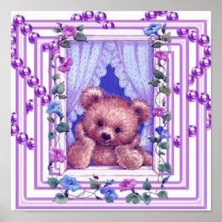 Daydreaming Teddy Bear Poster