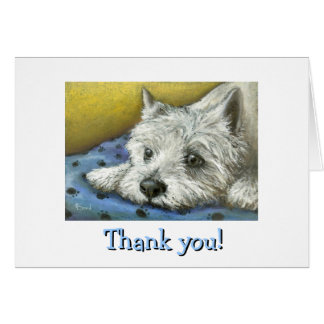 Daydreaming Westie Card