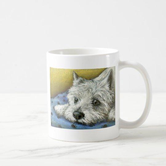 Daydreaming westie coffee mug