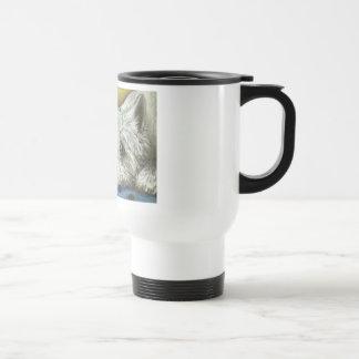 Daydreaming westie travel mug